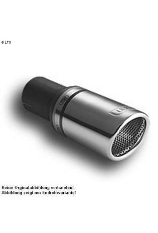 Ulter Sportauspuff 1 x 90mm eingerollt - Citroen C2 ab Bj 04 1.6