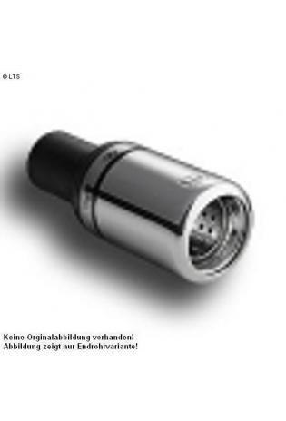 Ulter Sportauspuff 1 x 80mm eingerollt mit Absorber - Dacia Logan Limousine ab Bj 05 1.4 bis 1.6 und 1.5 dCi