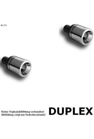 Ulter Duplex Sportauspuff 1 x 100mm eingerollt rechts-links - Dacia Logan Limousine ab Bj 05 1.4 bis 1.6 und 1.5 dCi