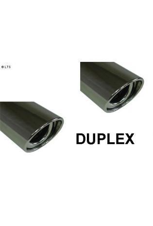 Peugeot 4007 ab Bj. 07 2.2l D  FOX Duplex Sportauspuff rechts links je 1 x 115x85mm oval (RohrØ 63.5mm)