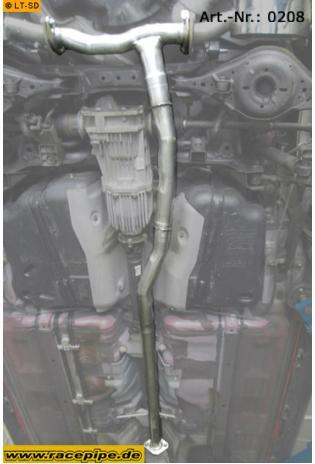 Racepipe Edelstahl Verbindungsrohr Mazda6 MPS ohne TÜV