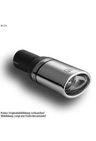 Ulter Sportauspuff 1 x 95x65mm eingerollt - Daewoo Nubira Fließheck ab Bj. 97 bis 99 1,6i