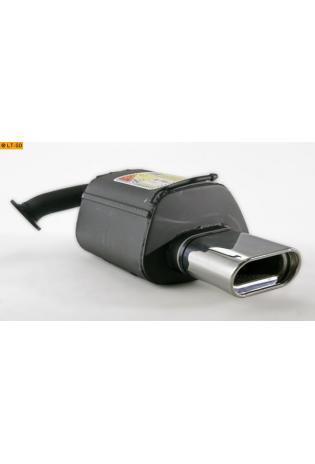 Ulter Sportauspuff 1 x 140x70mm eingerollt - Mazda 6 Kombi ab 02 1.8l bis 2.0l und 2.0 CiTD