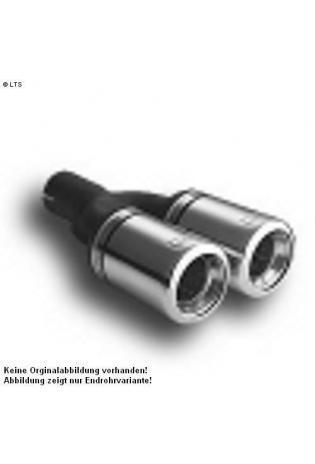 Ulter Sportauspuff 2 x 80mm eingerollt - Mitsubishi Carisma Fließheck, Limousine ab 99 bis 04  1.6l bis 1.8l und 1.9TD