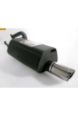 Ulter Sportauspuff 1 x 90mm eingerollt - Mitsubishi Galant Kombi ab 96 2.0l bis 2.5l und 2.4 GDI