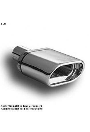 Ulter Sportauspuff 1 x 140x70mm eingerollt - Nissan Almera Limousine ab 00 1.5i bis 1.8i