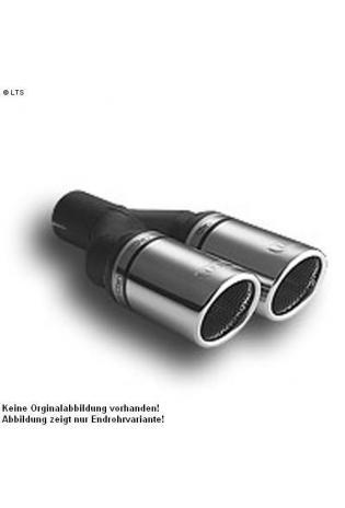 Ulter Sportauspuff 2 x 70mm eingerollt - Nissan Almera Limousine ab 00 1.5i bis 1.8i