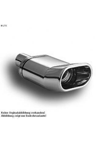 Ulter Sportauspuff 1 x 140x70mm DTM scharfkantig - Opel Astra F Limousine ab 91 bis 96 1.4l bis 2.0l