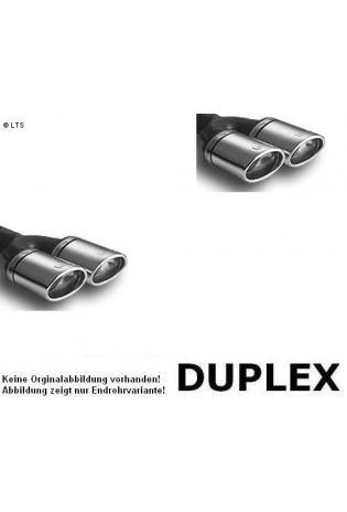Ulter Duplex Sportauspuff 2 x 95x65mm eingerollt rechts-links- Opel Astra G Fließheck ab 98 bis 03 1.4l bis 2.0l u. 1.7l DTL bis 2.0l DTI