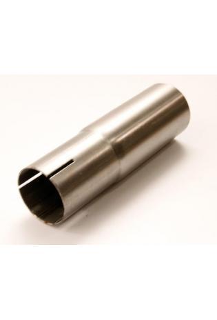 Edelstahl Einzelmuffe Ø 63.5mm auf 55mm Rohradapter Auspuff Reduzierstück für Auspuffanbau
