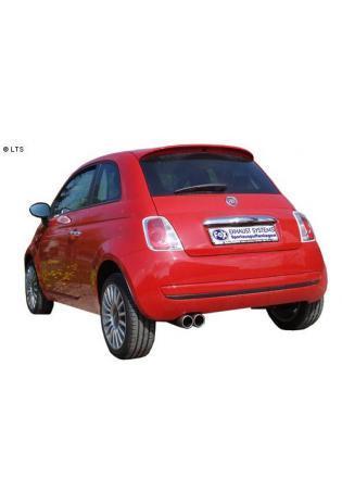 FOX Sportauspuff Fiat 500 500C 1.2l  1.4l 1.3l D  2 x 76mm eingerollt gerade