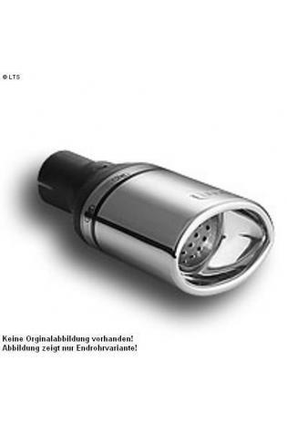 Ulter Sportauspuff 1 x 120x80mm eingerollt - Opel Zafira ab 99 bis 03 1.6l bis 1.8l
