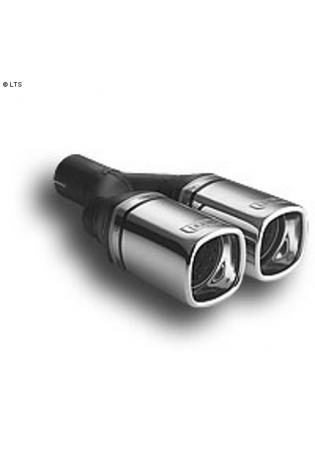 Ulter Sportauspuff 2 x 80mm eingerollt - Opel Signum 1.8l bis 2.2l und 1.9 CDTi bis 2.2 CDTi