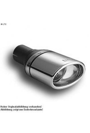 Ulter Sportauspuff 1 x 120x80mm eingerollt - Peugeot 106 ab Bj. 91 bis 96 1.0l bis 1.6l
