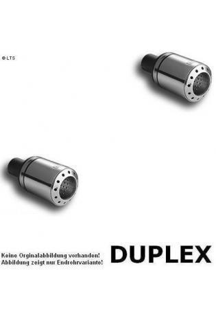 Ulter Duplex Sportauspuff 1 x 100mm eingerollt - Renault Megane Coupe ab Bj. 95 bis 02 1.4l bis 2.0l