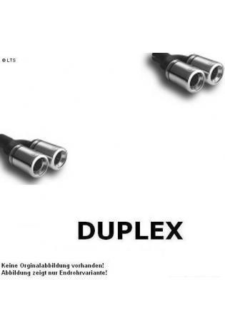 Ulter Duplex Sportauspuff 2 x 80mm eingerollt - Renault Megane Limousine Stufenheck ab Bj. 95 bis 02 1.4l bis 2.0l