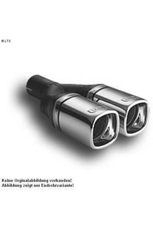 Ulter Sportauspuff 2 x 80mm eingerollt - Renault Megane II Fließheck ab 02 1.4l bis 1.6l und 1.5dCi bis 1.9 dCi