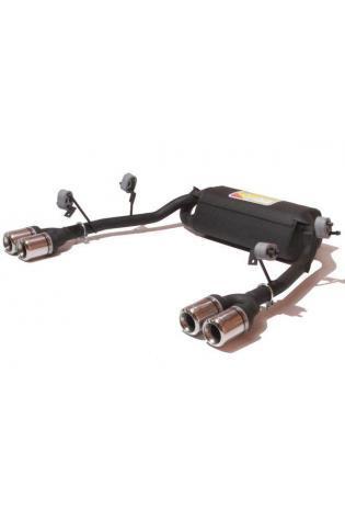 Ulter Duplex Sportauspuff 2 x 80mm eingerollt rechts-links - Renault Laguna II ab 01 1.6l bis 2.0l und 1.9 dCi bis 2.2 dCi