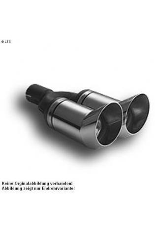 Ulter Sportauspuff 2 x 80mm DTM scharfkantig - Skoda Fabia Fließheck ab 1.0l bis 1.6l und 1.4 TDI bis 1.9 TDI
