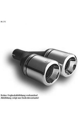 Ulter Sportauspuff 2 x 100mm eingerollt - Skoda Octavia Fließheck und Kombi ab 96 bis 05 1.8 T und 1.9 SDI bis 1.9 TDI