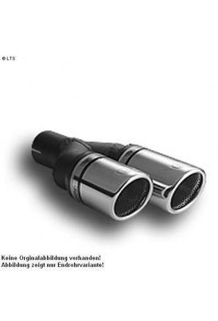 Ulter Sportauspuff 2 x 90mm RS eingerollt - Skoda Octavia Fließheck und Kombi ab 96 bis 05 1.8 T und 1.9 SDI bis 1.9 TDI