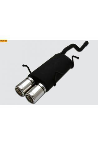 Ulter Sportauspuff 2 x 80mm eingerollt -Suzuki Swift Fließheck 3. u. 5 türig ab 89 bis 05 1.0l bis 1.3l