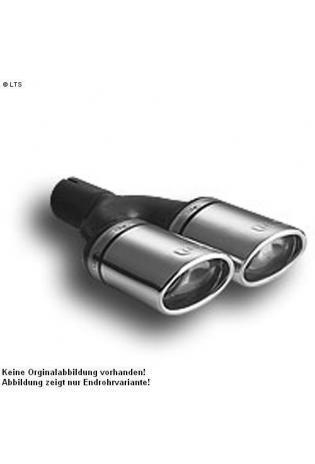 Ulter Sportauspuff 2 x 95x65mm eingerollt -Toyota Corolla Fließheck ab 01 bis 04 1.4l bis 1.6l
