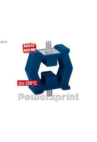 Powersprint Auspuffgummi aus Hochleistungs-Silikon mit Gewinde - 60 x 78 mm