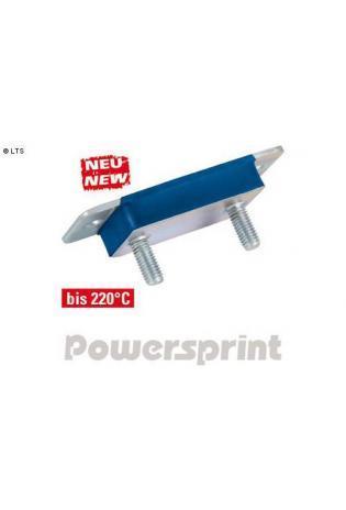 Powersprint Auspuffgummi aus Hochleistungs-Silikon zum Verschrauben mit Gewinde - 36 x 92 mm