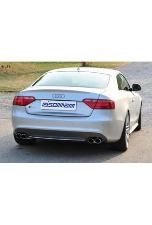 Audi S5 Typ B8 Coupe ab Bj. 07 4.2l  EISENMANN Sportauspuff rechts links je 2 x 90x70mm rundoval - RACE Version