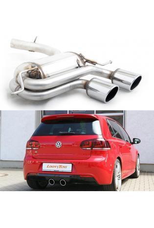 Supersprint Sportauspuff Endschalldämpfer 2x100 rund - VW Golf V R32 ab 06 und Golf VI R 2.0i TFSI ab Bj. 10
