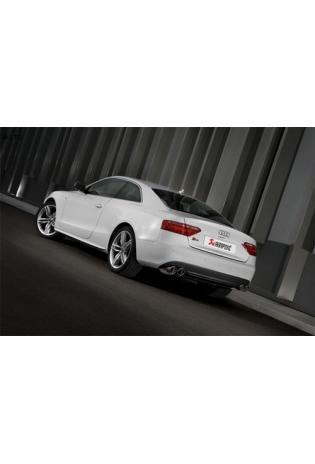 Akrapovic Duplex Sportauspuff Edelstahl mit je 2 Titan Endrohren (4 insgesamt) - Audi S5 (S58) Bj. 07-10