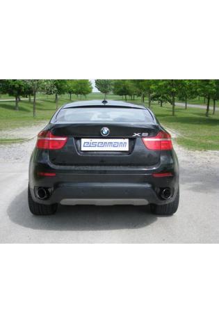 BMW X6 E71 35d xDrive EISENMANN Sportauspuffanlage rechts links je 1 x 120mm abgeschrägt
