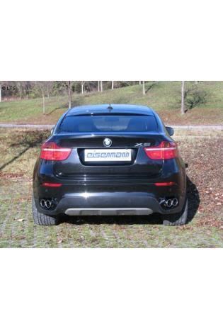 BMW X6 E71 35i xDrive EISENMANN Sportauspuffanlage rechts links je 2 x 90mm abgeschrägt - RACE-Version