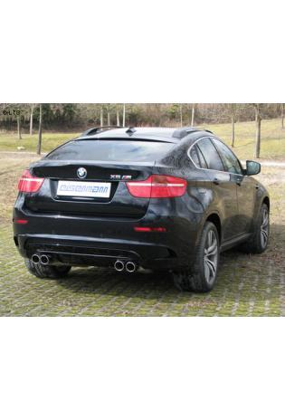 BMW X6M E71 4.4i BiTurbo  EISENMANN Sportauspuff rechts links je 2 x 83mm schräg doppelwandig - RACE-Version