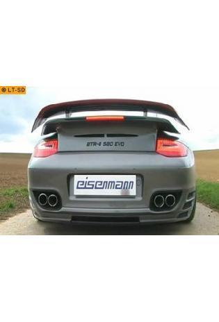 EISENMANN Klappenauspuff Porsche 911 Typ 997 2. Generation 3.8l Turbo rechts links je 2 x 80mm eingerollt Sportauspuff