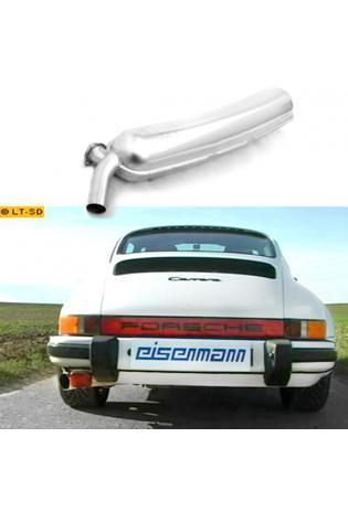 EISENMANN Sportauspuff Porsche 911 G-Modell Bj. 74-89  2.7l  3.0l  3.2l - 1 x 60mm scharfkantig