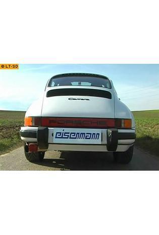 EISENMANN Sportauspuff Porsche 911 G-Modell Bj. 74-89  2.7l  3.0l  3.2l - 1 x 83mm scharfkantig