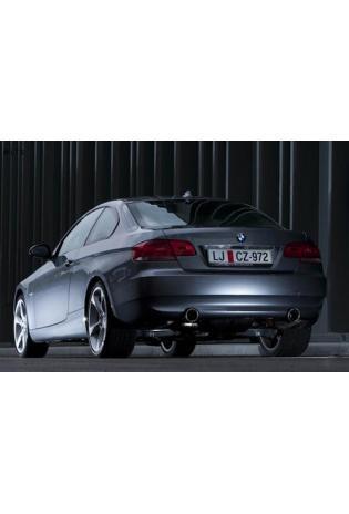 Akrapovic Titan-Auspuffanlage inkl. Verbindungsrohren und Duplex-Endschalldämpfer mit 2 Titan-Endrohren (links rechts) - BMW 3er E90 u. E91 335i
