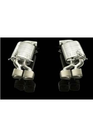 Akrapovic Sportauspuff 2 Titan Endschalldämpfer mit je 2 Titan-Endrohren - Mercedes Benz C 63 AMG V8 ab 08