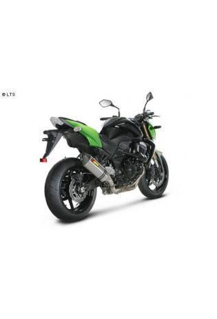 Akrapovic Hexagonal-Schalldämpfer mit Titan-Außenhülle Slip-On inkl. Mechanischer Auslass-Steuerung und dB-Eater - Kawasaki Z 750 R ab 11