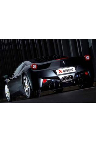 Akrapovic Sportauspuff zwei Titan-Endschalldämpfer mit 3 Carbon-Endrohren - Ferrari 458 Italia Bj. 10-11