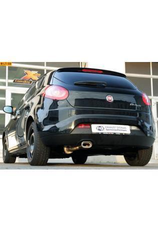 FOX Sportauspuff Endschalldämpfer Edelstahl Fiat Bravo für Modelle mit Heckschürzenausschnitt ab Bj. 07  135x80mm eingerollt abgeschrägt mit Absorber