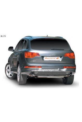 Supersprint Sportauspuffanlage mit Duplex-Endschalldämpfer rechts links je 120 x 80 mm oval - Audi Q7 3.6 FSI ab 06