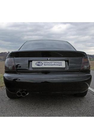 FOX RACING Komplettanlage ab Kat Audi A4 Quattro u. S4 Bi-Turbo Typ B5 2.4l bis 2.8l  1.9l TDI  2.5l TDI - 2 x 70mm ohne Absorber (RohrØ70mm)