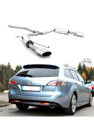 FOX Sportauspuff Mazda 6 GH ab Bj. 07 2.0d 2.2d rechts links je 1 x 115x85mm Porsche Design