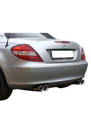 Fox Sportauspuff Mercedes SLK R171 SLK 200  SLK 280  SLK 300  SLK 350 ab Bj. 04  rechts links je 2 x 80mm mit Absorber (RohrØ 50mm)