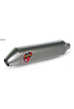 Akrapovic Endschalldämpfer Elliptisch in Titan 94 dB-Einsatz mit dB-Eater und Anschlussmuffe aus Titan für HUSQVARNA SMR 450 Bj. 06-07