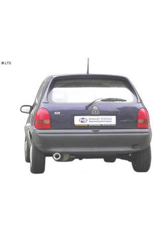 FOX RACING Komplettanlage ab Kat Opel Corsa B ab Bj. 92  1.0l  1.2l  1.4l 1.6l  1.5l TD  1 x 90mm mit Absorber (AnschlussØ 60mm)