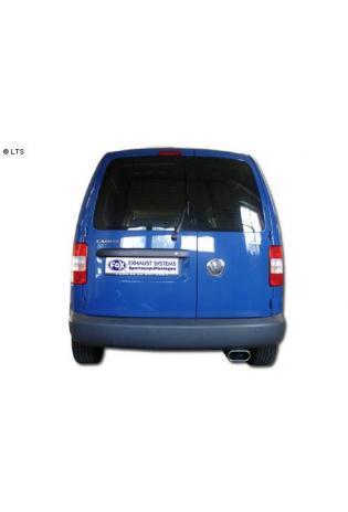 FOX Sportauspuff VW Caddy 3 ab Bj. 04  TDI - 1 x 160x80mm flachoval